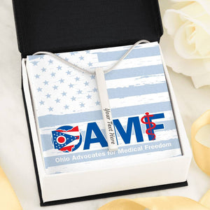 OAMF - Custom Engraved (2-sided) Vertical Stick Necklace