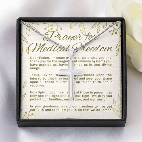 Prayer for Medical Freedom - Necklace for Men, Women, and Children