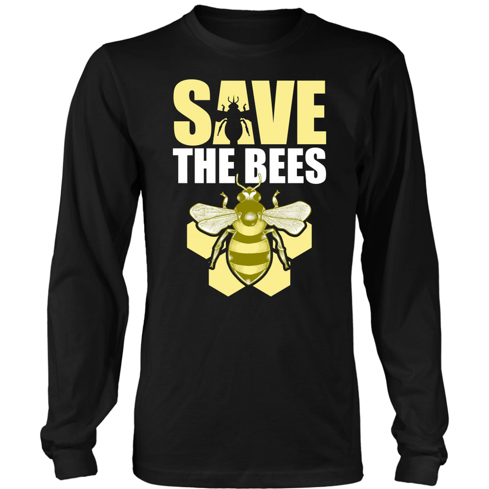 Save the Bees (Honeycomb) - Long Sleeve Tee
