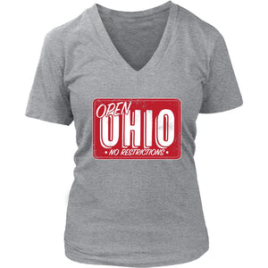 Open Ohio (No Restrictions) - Women's V-Neck Tee
