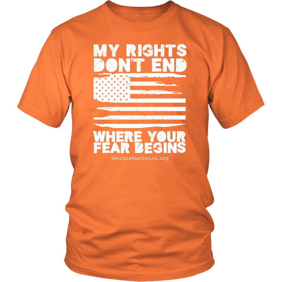 GCVC - My Rights Don't End Where Your Fear Begins - Unisex Tee