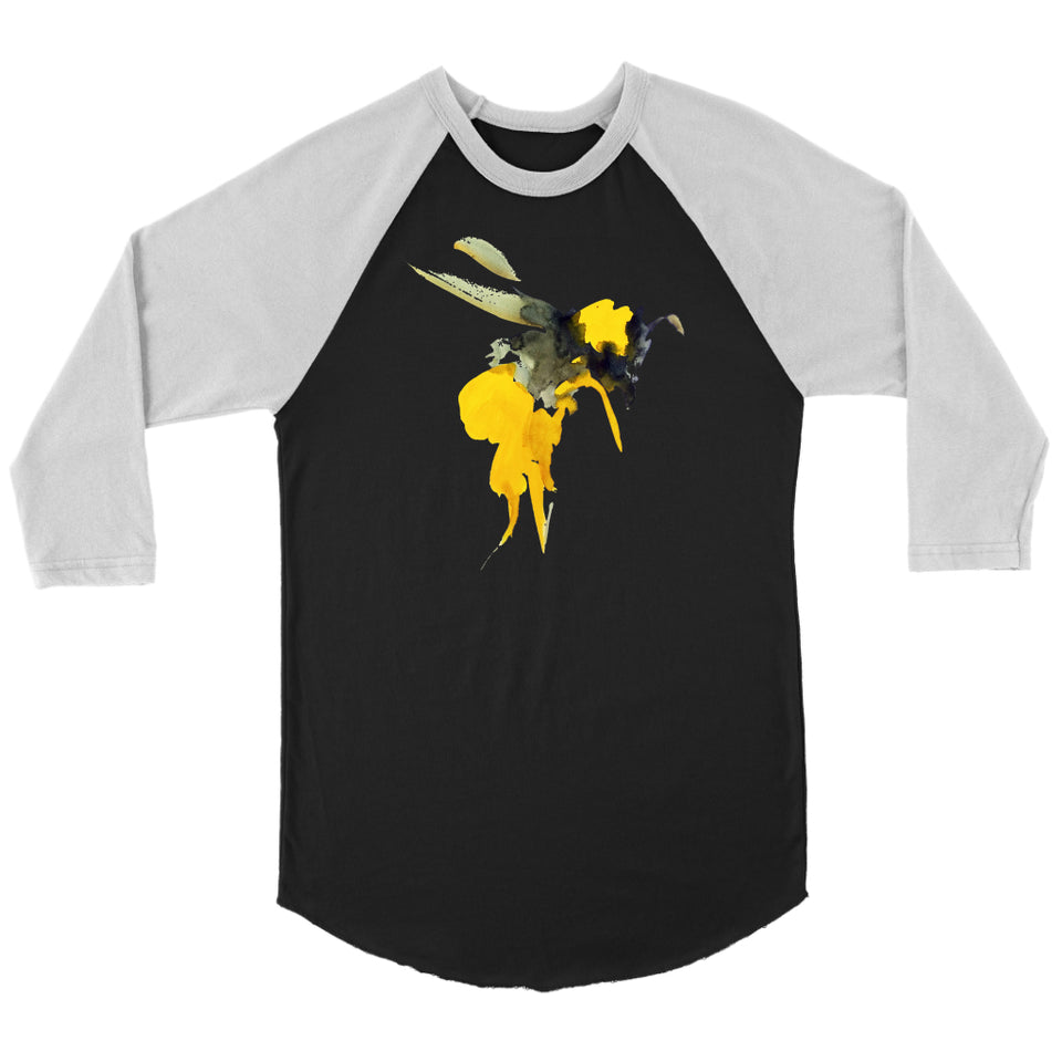 Painted Bee - 3/4 Raglan Tee