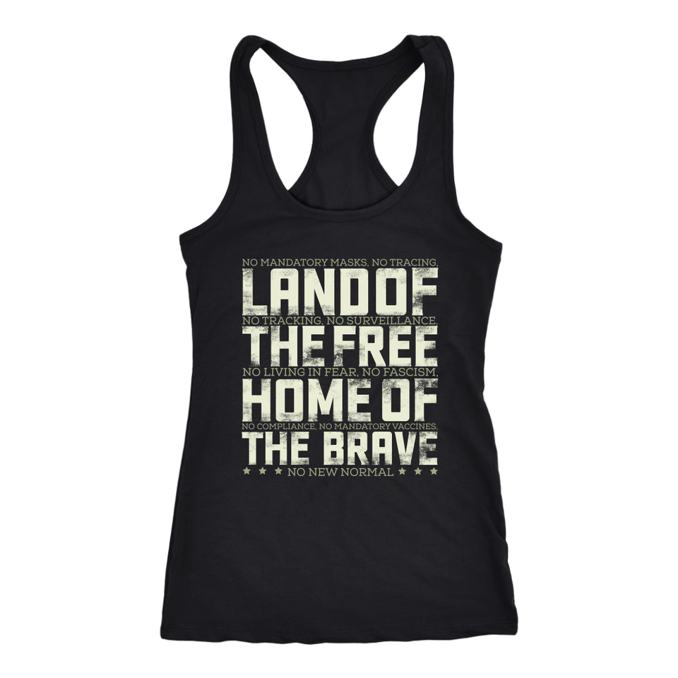 Land of the Free Home of the Brave - Tank Top