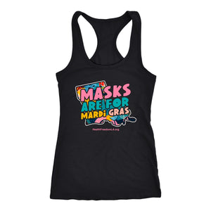 HFLA - Masks Are For Mardi Gras - Tank Top
