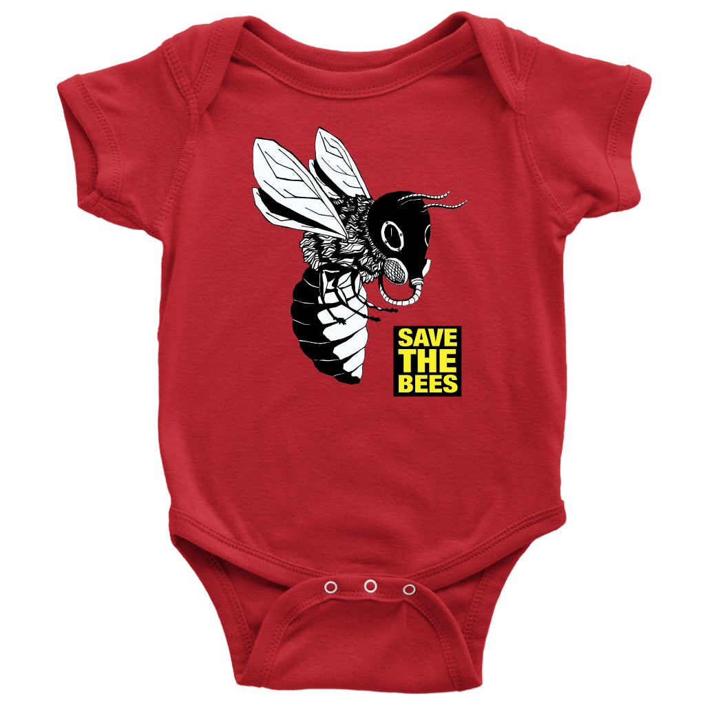 Save the Bees (Gasmask) - Baby Onesie