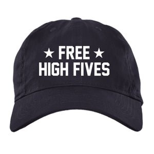 Free High Fives - Brushed Twill Unstructured Cap