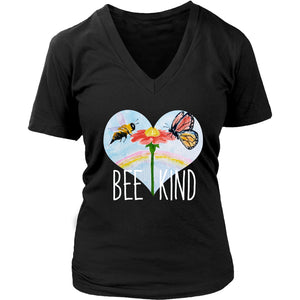 Bee Kind - Women's V-Neck Tee