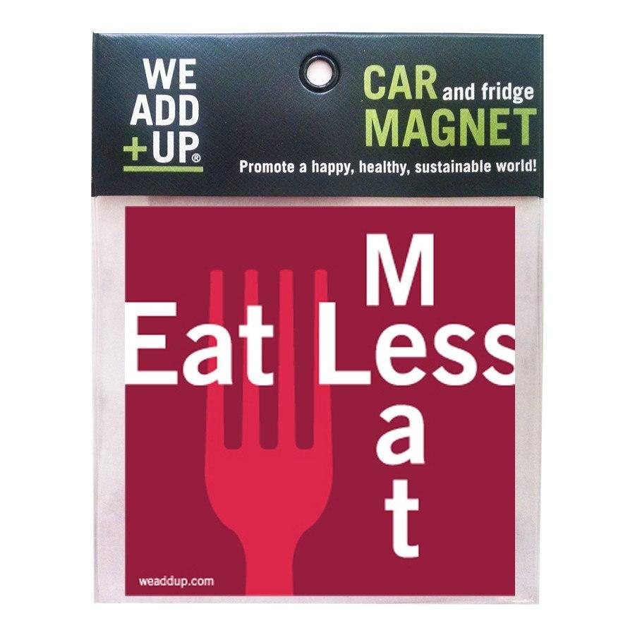 Magnet - Eat Less Meat Magnet