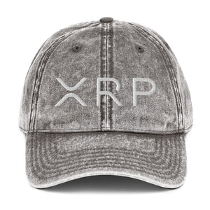 XRP - Embroidered Vintage Cotton Twill Cap