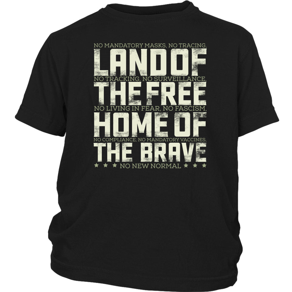 Land of the Free Home of the Brave - Youth Tee