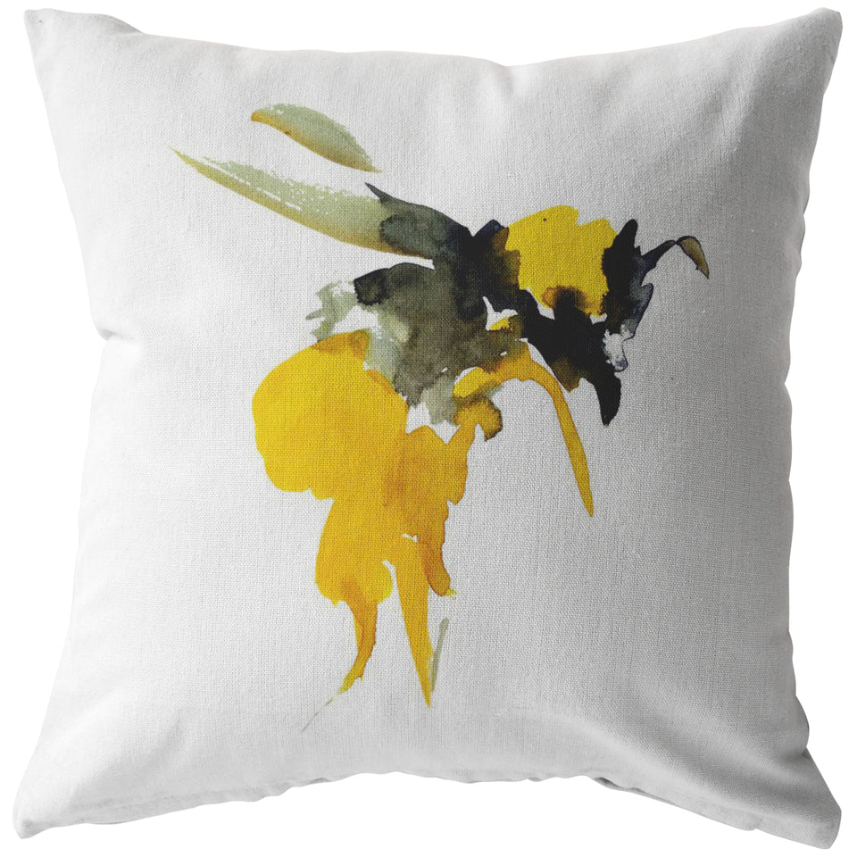 Bee Painting - Pillow