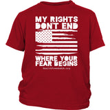 HFLA - My Rights Don't End Where Your Fear Begins - Youth Tee