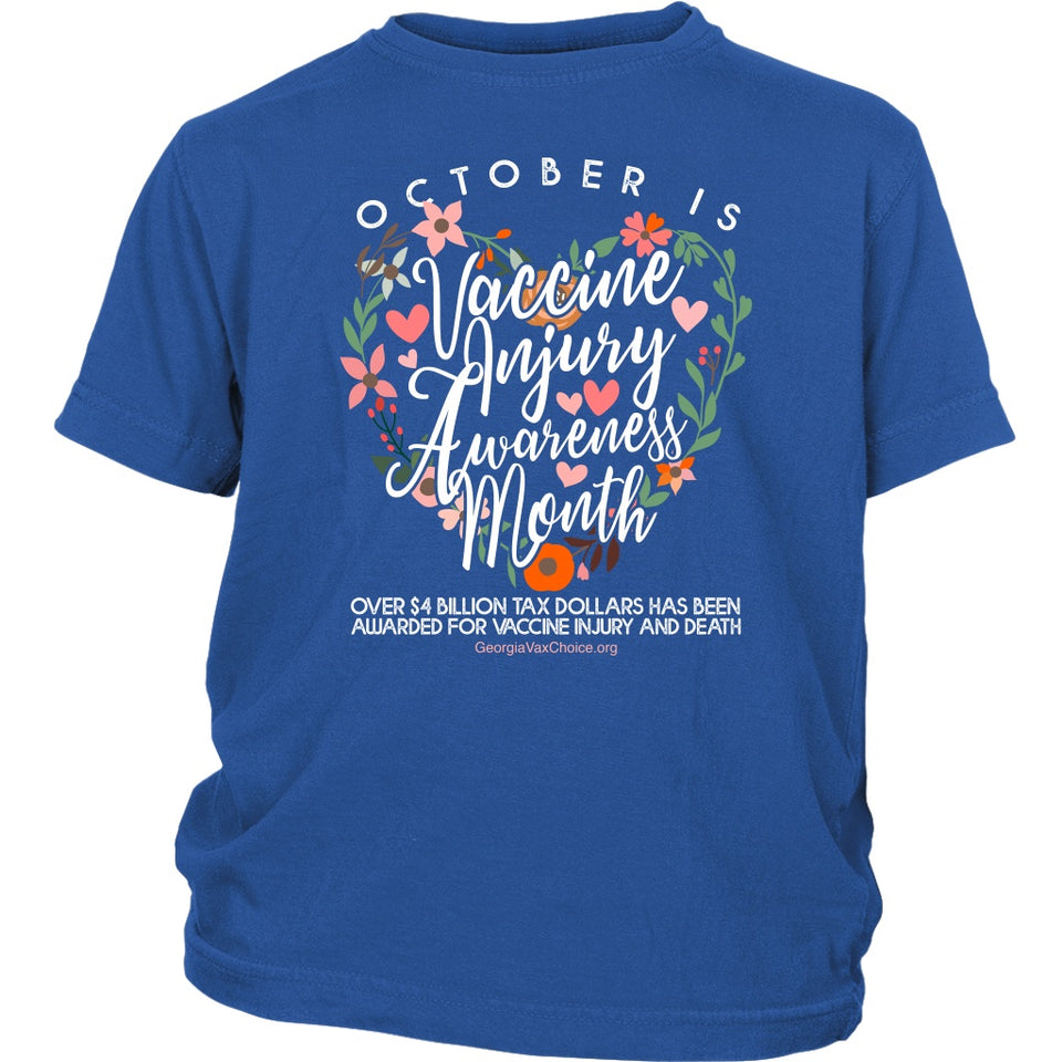 GCVC - October is Vaccine Injury Awareness Month - Youth Tee