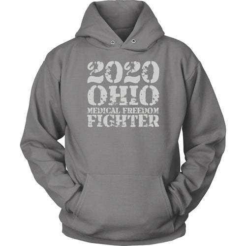 2020 Ohio Medical Freedom Fighter Grey - Hoodie
