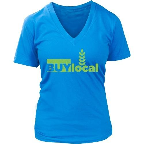 T-shirt - Buy Local - Women's V-Neck
