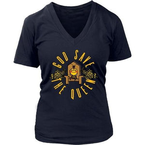 T-shirt - God Save The Queen: Save The Bees - Women's V-Neck