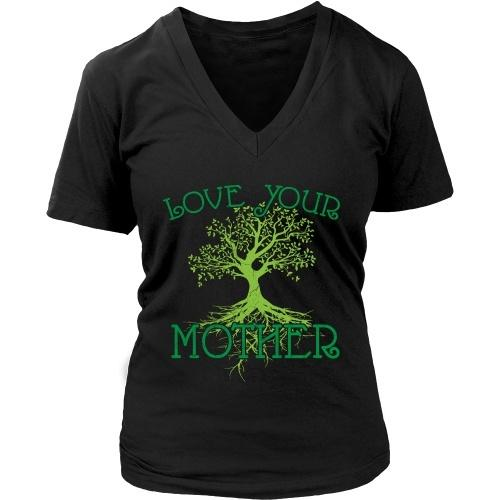 T-shirt - Love Your Mother - V-Neck Tee