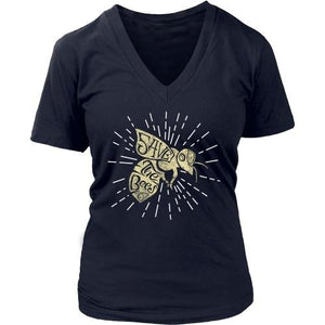 T-shirt - Save The Bees (Starburst) - Women's V-Neck