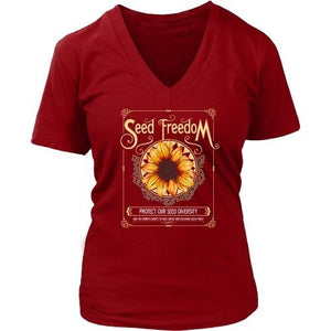 T-shirt - Seed Freedom - Women's V-Neck