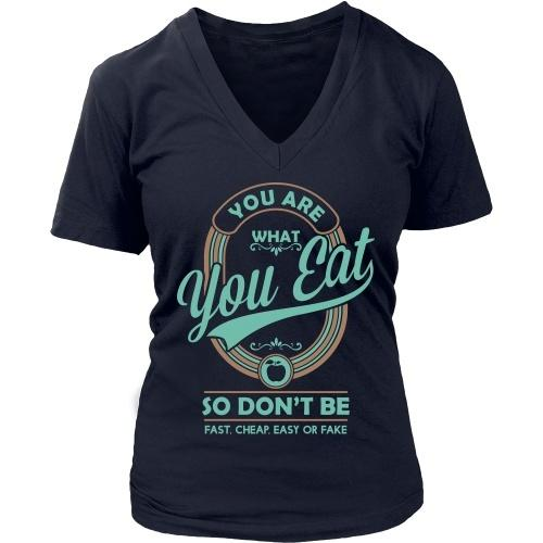 T-shirt - You Are What You Eat - Women's V-Neck