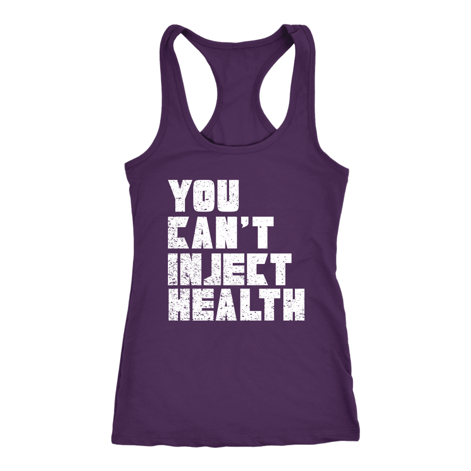 You Can't Inject Health (text) - Tank Top