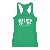 HFLA - Won't Mask Don't Ask #AllergicToTyranny - Tank Top