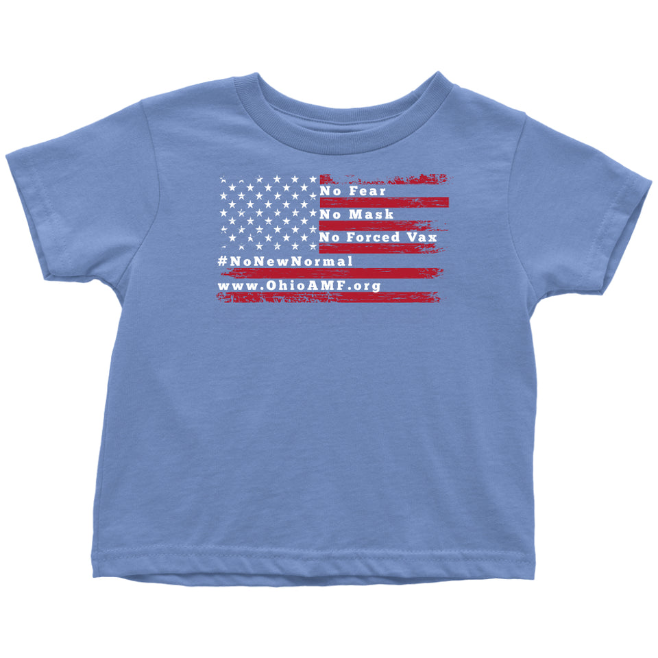 OAMF - American Flag No Fear Toddler Tee