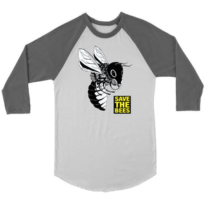 Save the Bees (Gasmask) - 3/4 Raglan Tee