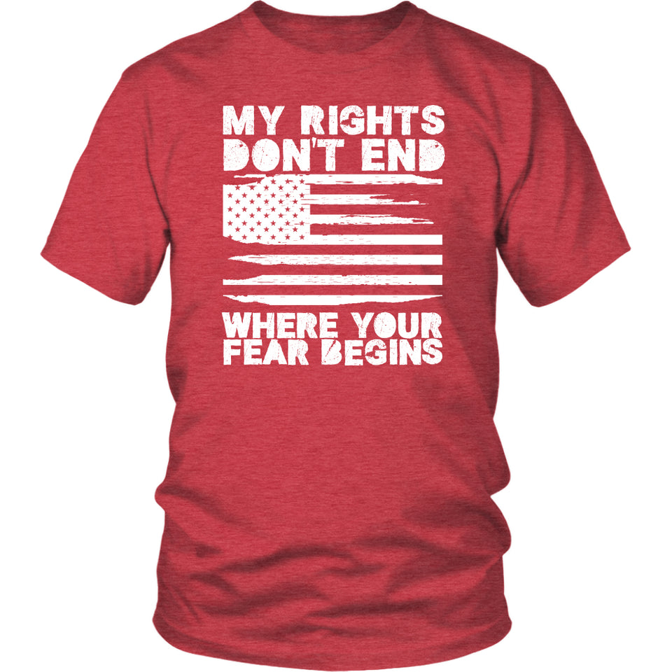 My Rights Don't End Where Your Fear Begins - Unisex Tee