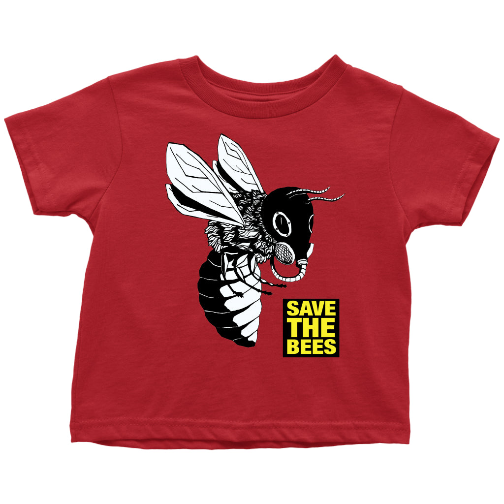 Save the Bees (Gasmask) - Toddler Tee