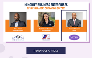 Dr. Thrower Featured Among Thousands of Minority Business Owners