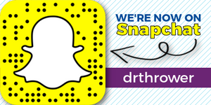 Connect with Dr. Thrower on Snapchat!