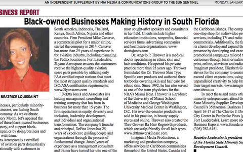 Sun Sentinel - Legacy South Florida - Black History Month (January, 23 2020)