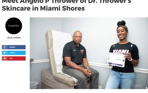 VoyageMIA - Meet Angelo P Thrower of Dr. Thrower's Skincare in Miami Shores