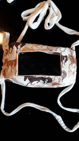 Horse print face mask