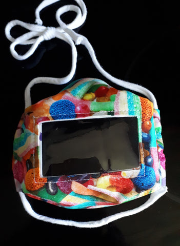 Candy print face mask