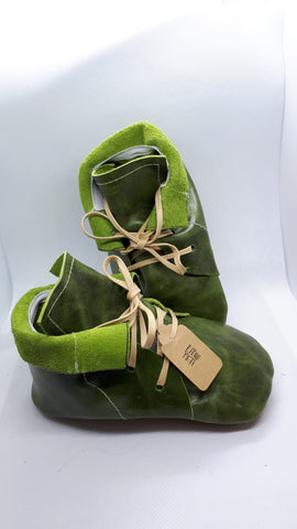 Mossy green leather Desert Boots SALE
