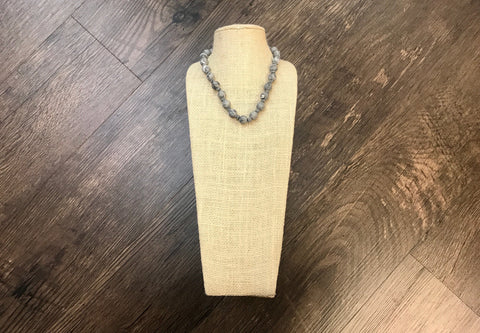 Jewelry:  Gray Beaded Choker