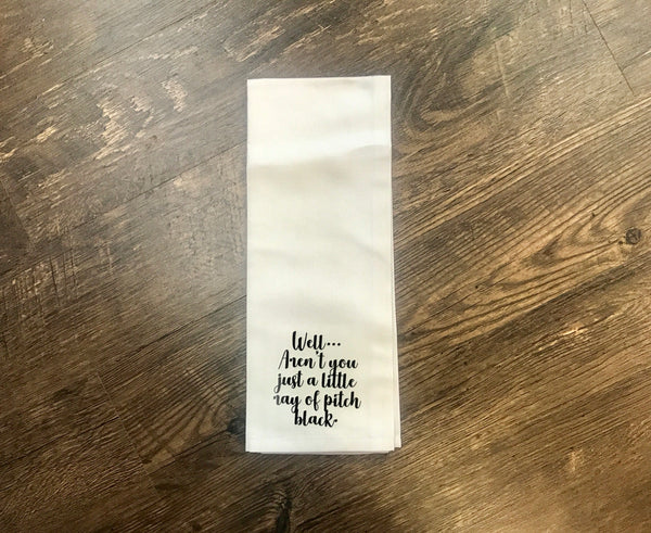 Tea Towel: Pitch Black