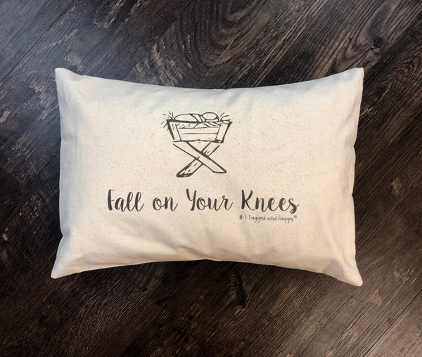 Fall on your knees pillow