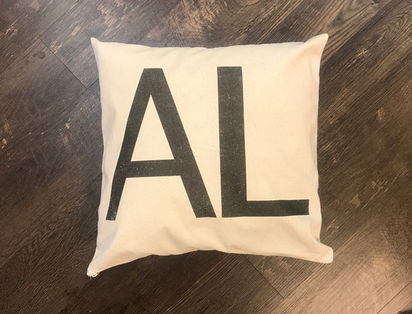 Pillow:  State Location