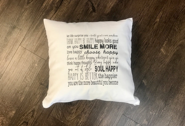 Pillow: Happy All Day