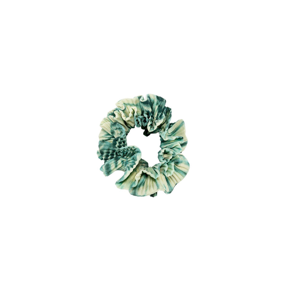 Tie Dye Scrunchie Green