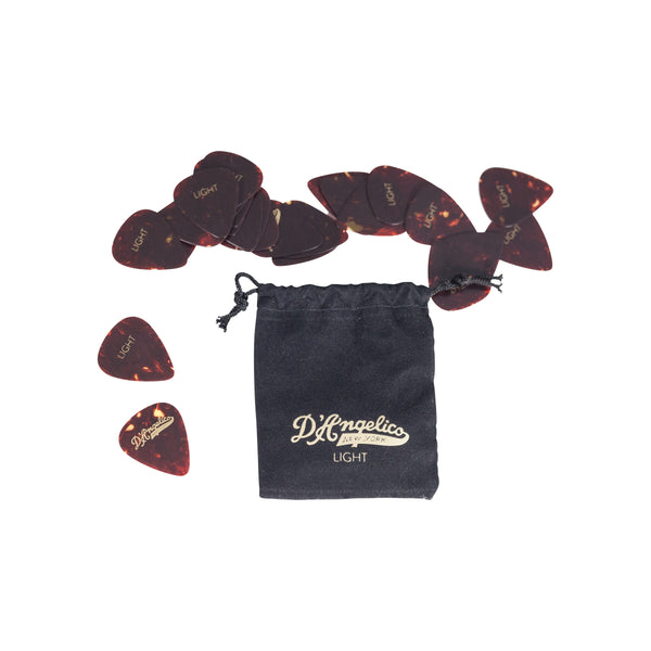 D'Angelico Tortoise Guitar Picks