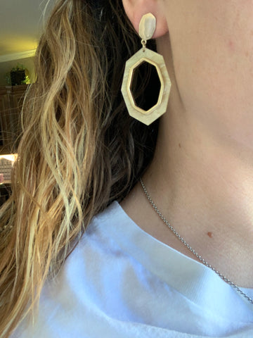 Gold Stud and Hoop Earrings