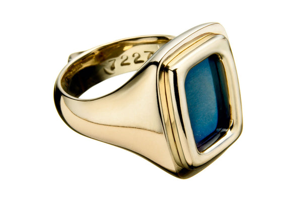 Signet Ring (Aqua Blued)