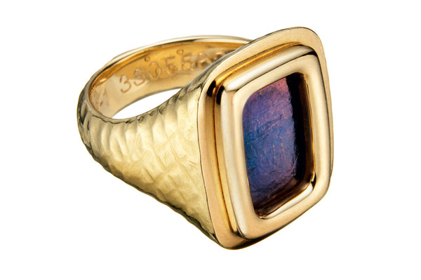 Custom Signet Ring (Blue)