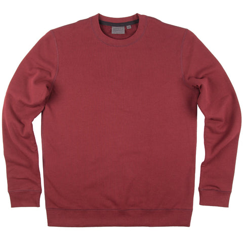 Slim Crew French Terry Burgundy