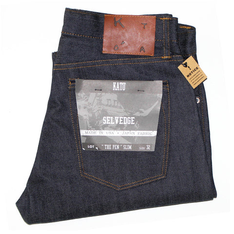 """The Pen"" Slim 14oz Selvedge Raw Indigo"