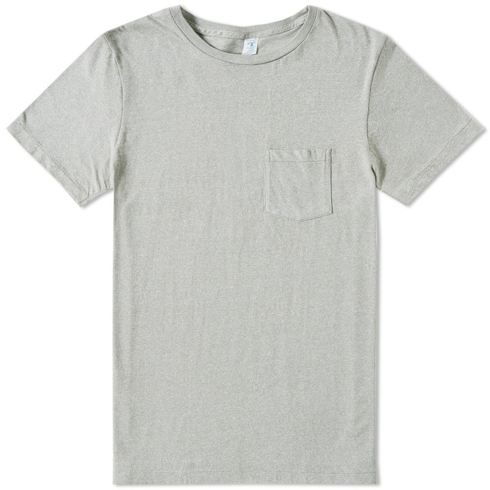 Circular Knit Pocket Tee Heather Grey